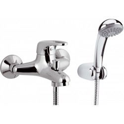 Bath mixer w/Flex Shower Eco