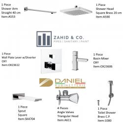 Bath Set w/Diverter OXY Daniel Italy