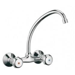 Sink Mixer Wall Type Knob Daniel Italy