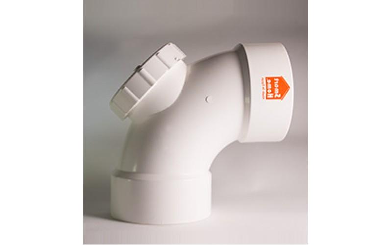 Elbow 87.5° w/ Inspection Door uPVC Smart Home Egypt