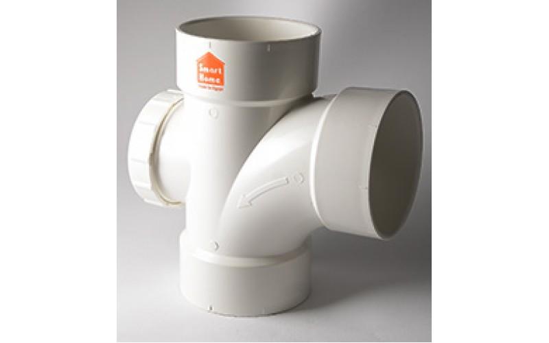 Tee 87.5° w/ Inspection Cap uPVC Smart Home Egypt