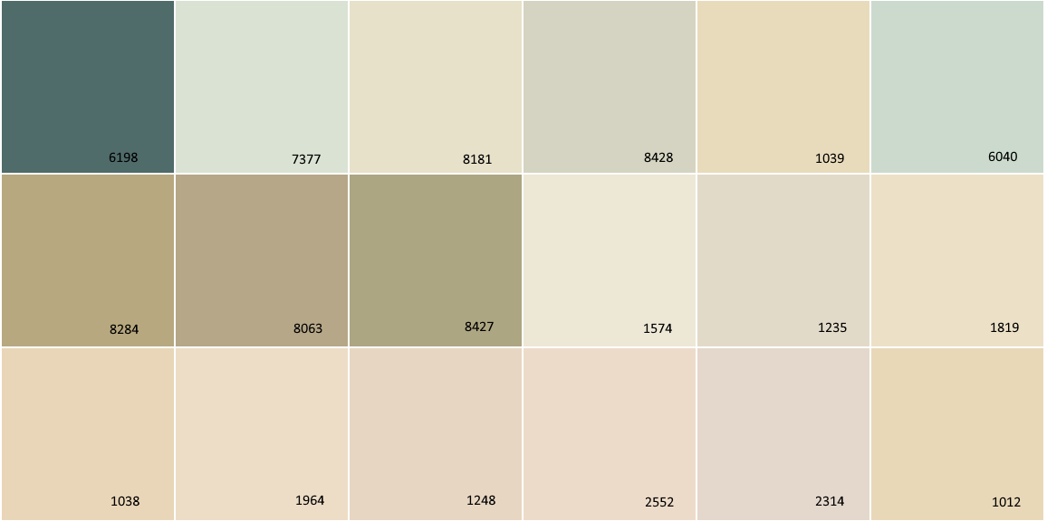 Cast Iron Paint >> Color Shade Card